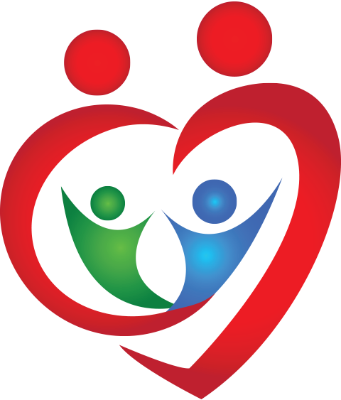 Graphic of heart with two people inside